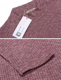New Women Casual Stand Collar Half Sleeve Solid Pullover Slim Knit Dress