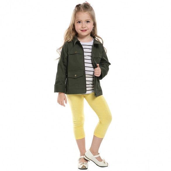 Kids Girl's Jacket+ T-Shirt+ Pants Outfit Clothing Set