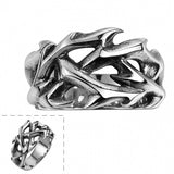 Stylish Women Men Rings 316L Stainless Steel Punk Style Ring 8~11