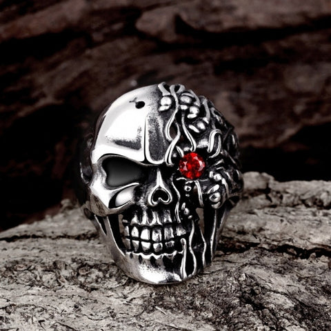 R193-8 Unique Star Celebrity Men Women Styles Skull Ring