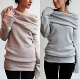 Winter Long sleeve Wool Female Knitted Pullover Jumper Sweater