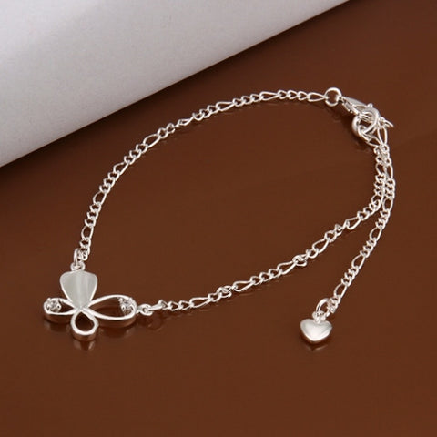 A021 Free Shipping New Design Large Stock Delicate Handmade Cheap Silver Plated Anklet Bulk Sale