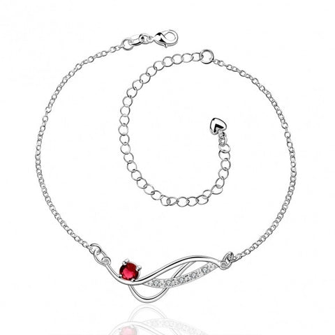 A036-AFree Shipping New Design Large Stock Delicate Handmade Cheap Silver Plated Anklet Bulk Sale