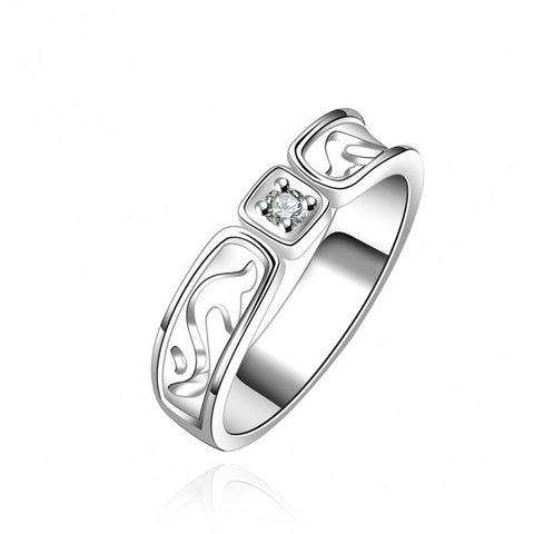 R610-8 Silver Plated New Design Finger Ring For Lady