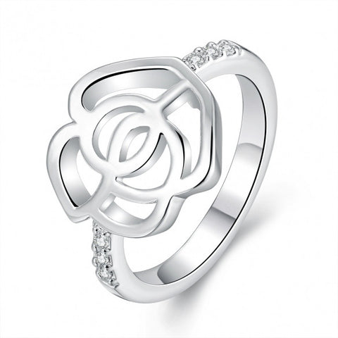 R686-8 Silver Plated New Design Finger Ring For Lady