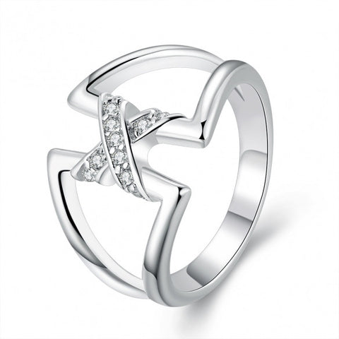 R687-8 Silver Plated New Design Finger Ring For Lady