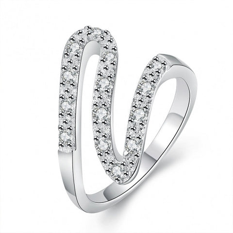 R688-8 Silver Plated New Design Finger Ring For Lady