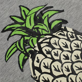 Casual Round Neck Short Sleeve Pineapple Print T-Shirt Top