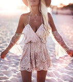 Sexy Sequined Women Backless Romper