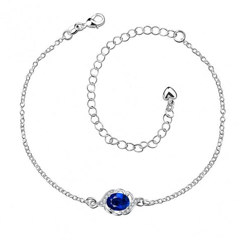 A004-A Free Shipping New Design Large Stock Delicate Handmade Cheap Silver Plated Anklet Bulk Sale