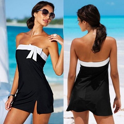 Adult Sexy Lingerie Black&White Clubbing Dress Beach Sun Bath Wear Sea Clubwear Summer Dress Women Beach Dress