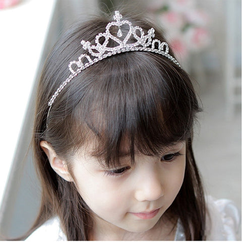 4672ba3d2b Cute Princess Hair Band Tiara For Kids Girl Children Rhinestone Headband  Silver