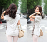 European American Style Fashion Summer Women Temperament Casual Shirt Slim V-Neck Chiffon Blouse