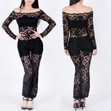 Fashion Women's Clothes Sexy Lace Evening Jumpsuit White Black Bodycon Clubwear Hollow Out
