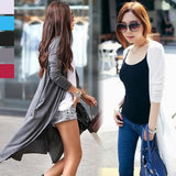 Fashion NEW Ladies Women Long Sleeve Long Length Maxi Cardigan Plus Size