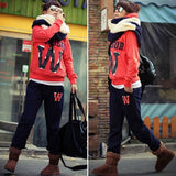 New Women Casual Coat+Pant Sweatshirt Outerwear Hoodie Suit Blouse Tracksuit Hot