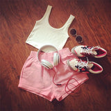 Fashion New Popular Women's Basic Sleeveless Muscle Tank Cropped Top