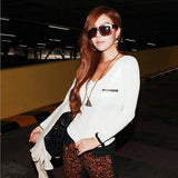 Fashion New Korean Fashion Women's Top Long Sleeve Punk Sexy T-Shirt Tee