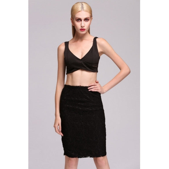 Women's Bra Crop Tops And Skirt Clothing Set Sexy Two-piece Bodycon Skirt% Sexy Top Hot!!!