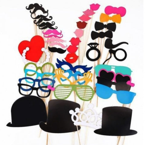 Fashion 44 Photo Booth Props Moustache On A Stick Weddings Christmas Birthday Party Fun