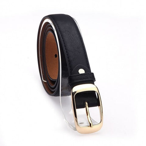 Fashion Women's Faux Leather Metal Buckle Belts Girls Fashion Accessories
