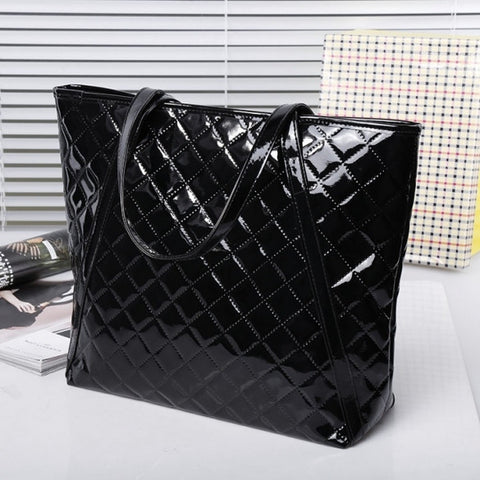 New Fashion Women's Girl Plaid Synthetic Leather Handbag Shoulder Bag