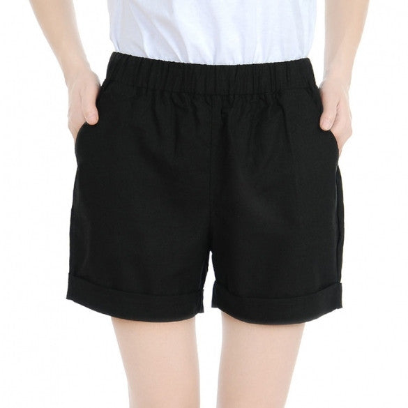 Sexy Girls Ladies Women Fashion Solid Elastic Waist Casual Shorts
