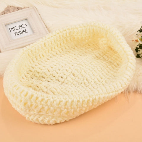 New Photography Prop Costume Hand-made Knit Crochet Infant Baby Sleeping Bag