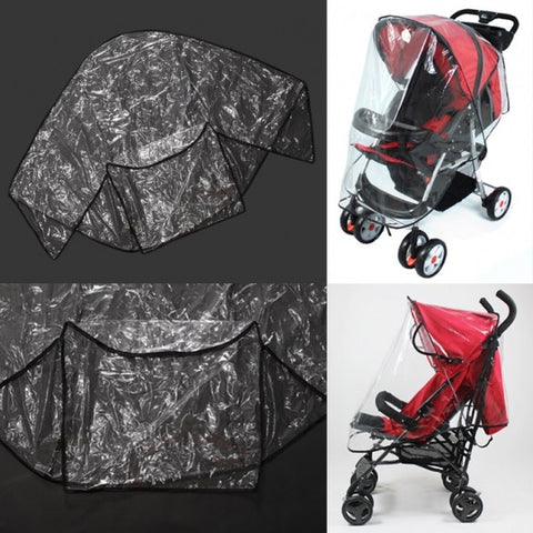 Fashion Universal Waterproof Plastic Cover For Baby Carriage Stroller To Protect Child From Rain Wind