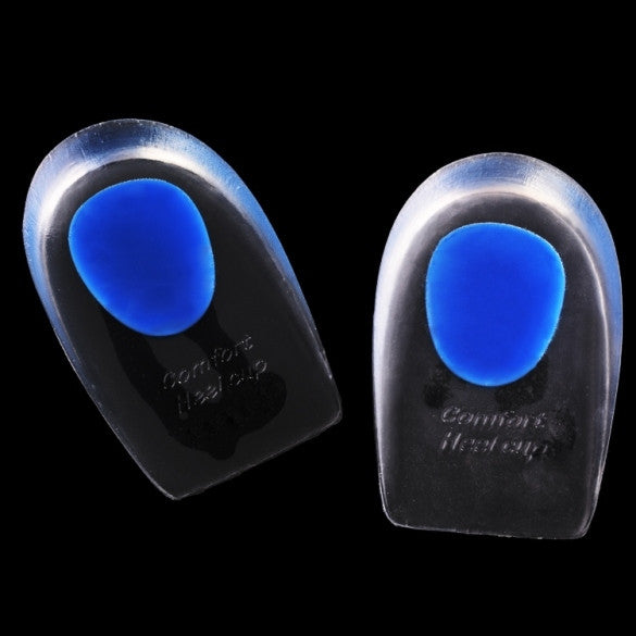 1Pair Women Massaging Soft Silicone Gel Insoles Foot Massager Heel Cup