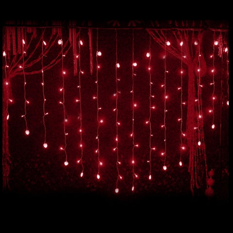 124 LED Heart Shape Curtain String Light Multi-color Waterproof Christmas Wedding Party Decor Light EU Plug