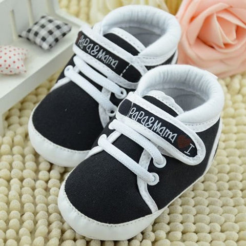 Fashion Infant Toddler Baby Soft Sole Antiskip Canvas Sneaker Crib Shoes First Walkers