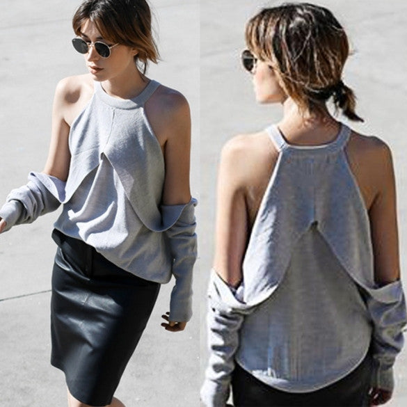 Fashion Women Sexy Lady O Neck Off Shoulder Casual Party Solid Top Blouse