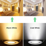 15W 85-265V Warm White Cool White Silver LED Ceiling Recessed Down Light Fixture Lamp And Driver