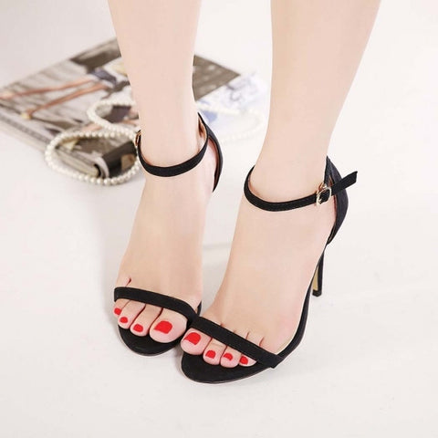 New Fashion Sexy Women High Heel Sandals Stilettos Shoes Ankle Strap Party Evening Shoes