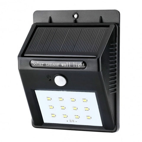 Outdoor Garden Waterproof 12 LED Solar Powered Motion Sensor Light Wall Light