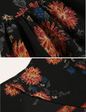 Sexy Women Flare Long Sleeve Backless Floral Crop Tops + Shorts Sets