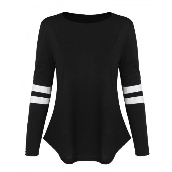 Fashion Women's O-Neck Long Sleeve Casual Loose T-Shirt Tops