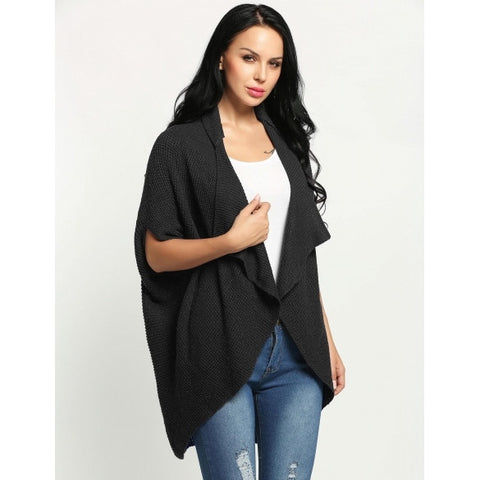 Batwing Short Sleeve Loose Long Cardigan Sweaters