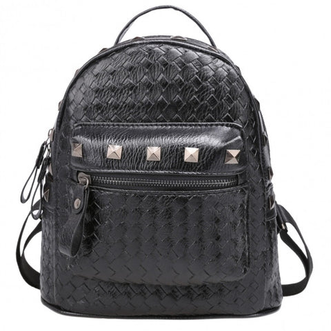 New Fashion Women Korean Style Backpack With Rivet Décor