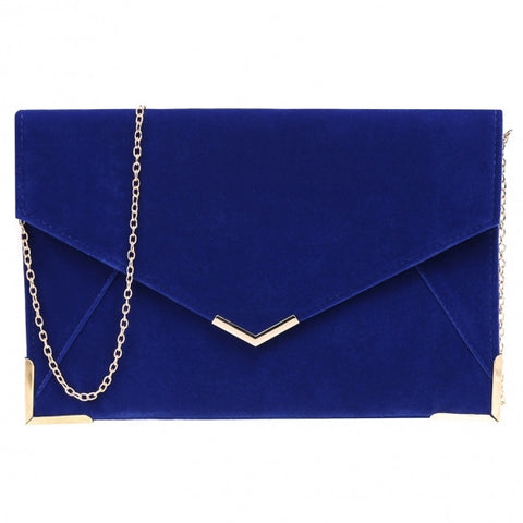 Fashion Soft Envelope Clutch Crossbody Bag With Chain Strap