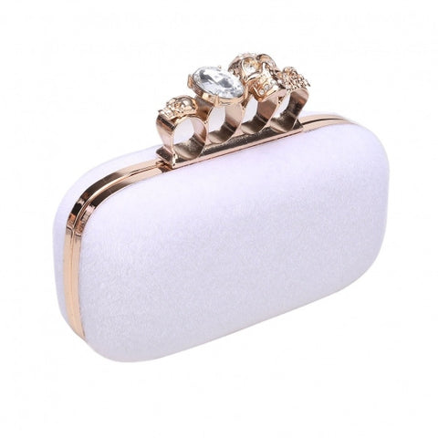 Casual Ring Case Handle Evening Bag With Detachable Chain Strap