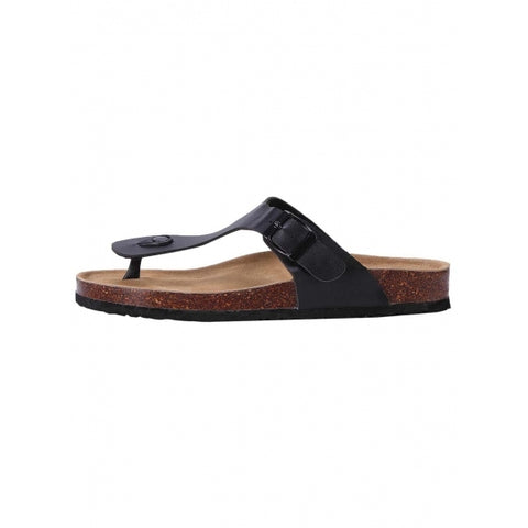 Birkenstocks Solid Beach Cork Soled Toe Post Sandals