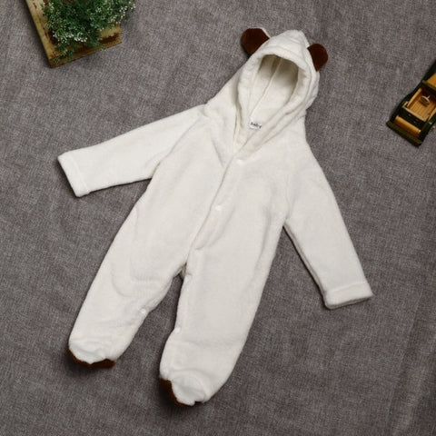 New Kids Animal Hooded Coat Long Sleeve Solid Baby Girls Baby Romper