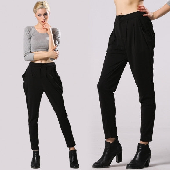 New Fashion Lady Women's Stretch Casual Harem Pants Loose Trouser