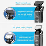5 In1 Waterproof Washable Cordless Hair Cutter Electric Rechargeable Hair Clipper Trimmer Shaver Razor Cordless Adjustable