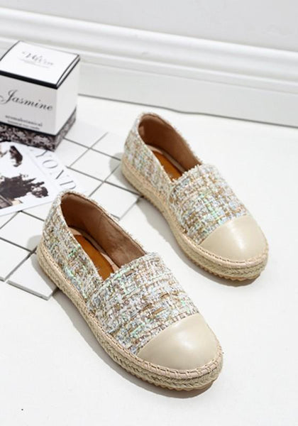 Apricot Round Toe Flat Patchwork Casual Ankle Shoes