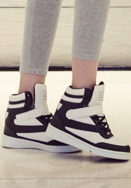 Black And White Round Toe Flat Within The Higher Casual Shoes