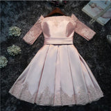 Pink Patchwork Pleated Lace Zipper Fashion Mini Dress