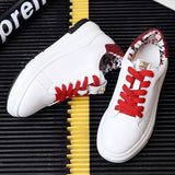 Red Sequin Round Toe Within The Higher Metal Decoration Casual Shoes